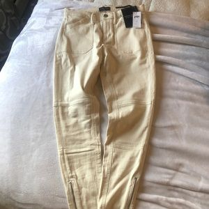 J Crew Mid Rise Skinny Ankle Pant with zipper